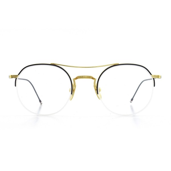 thom-browne-903-b-nvy-gld-18k-front-opticacliment