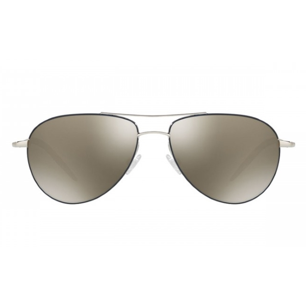 oliver-peoples-benedict-enamel-silver-navy-ov1002s-front