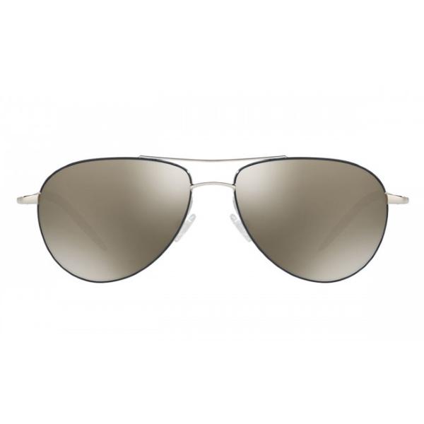oliver-peoples-benedict-enamel-silver-navy-ov1002s-front