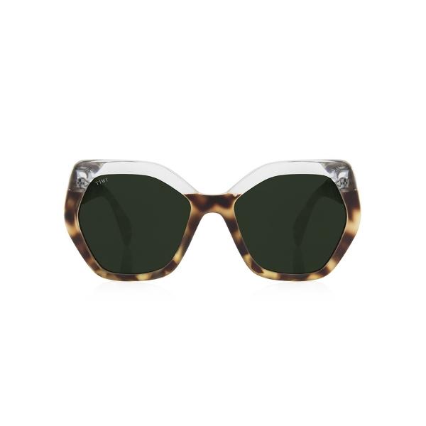 Tiwi-Charon-Transparente-Green-tortoise-front