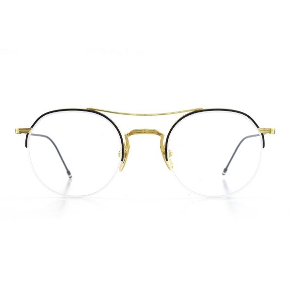 thom-browne-903-b-nvy-gld-18k-front-opticacliment